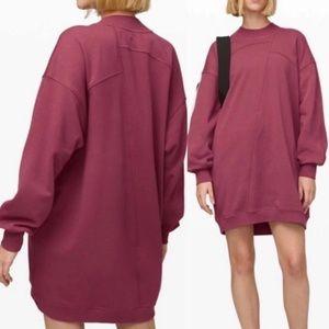 Lululemon | Broken Beats Sweater Dress Plumful XS